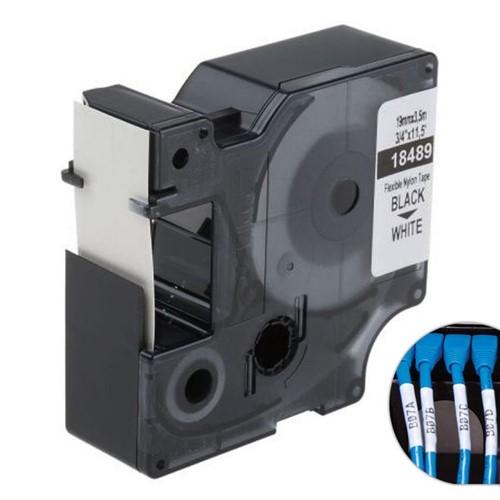 Fita Branca Nylon 19mm X 3.5m para Rotulador Profissional Rhinopro Dymo