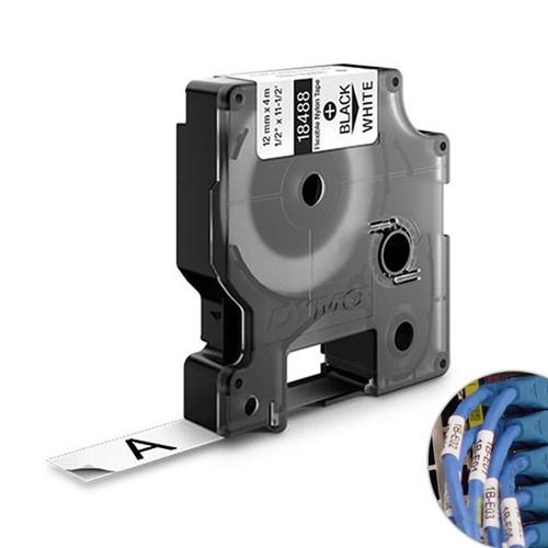 Fita Branca Nylon 12mm X 3.5m para Rotulador Profissional Rhinopro Dymo