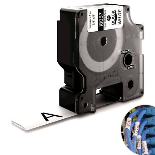 Fita Branca Vinilica/pvc 19mm X 1.5m para Rotulador Profissional Rhinopro Dymo
