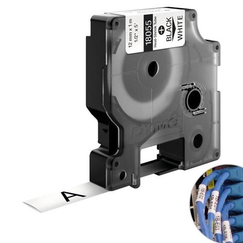 Fita Branca Vinilica/PVC 12mm X 1.5m para Rotulador Profissional Rhinopro Dymo