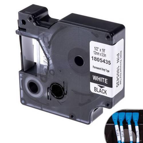 Fita Branca Vinilica/pvc 12mm X 5.5m para Rotulador Profissional Rhinopro Dymo