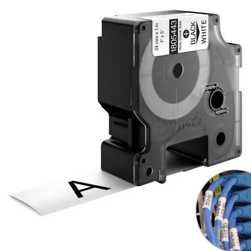 Fita Branca Vinilica/pvc 24mm X 1.5m para Rotulador Profissional Rhinopro Dymo