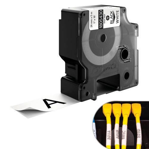 Fita Branca Vinilica/pvc 24mm X 5.5m para Rotulador Profissional Rhinopro Dymo
