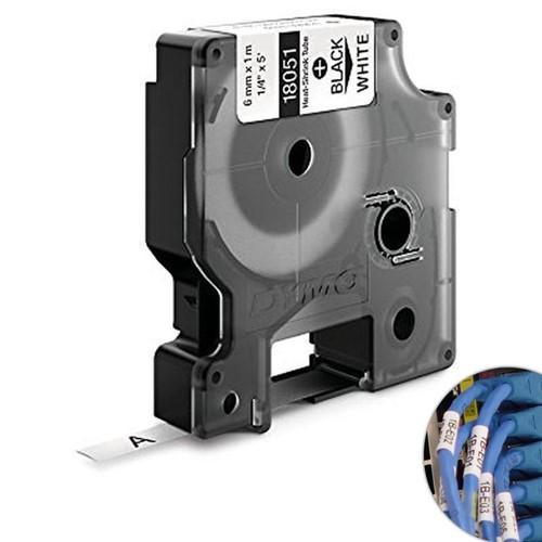 Fita Branca Vinilica/PVC 6mm X 1.5m para Rotulador Profissional Rhinopro Dymo