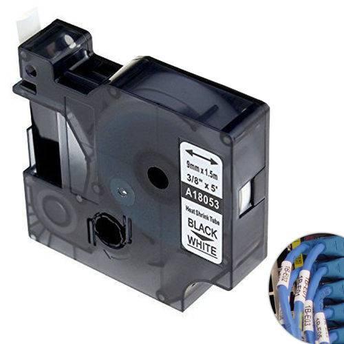 Fita Branca Vinilica/pvc 9mm X 1.5m para Rotulador Profissional Rhinopro Dymo