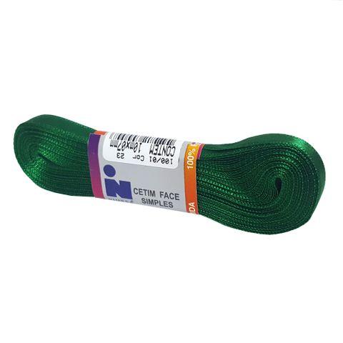 Fita Cetim No1 Verde Bandeira Cor 23 10m - Najar