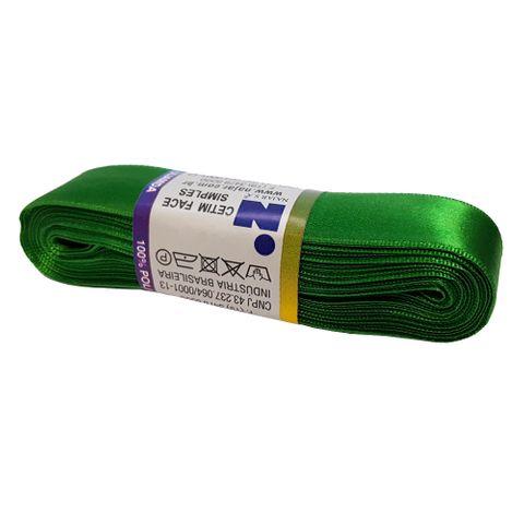 Fita Cetim No5 Verde Bandeira Cor 23 10m - Najar