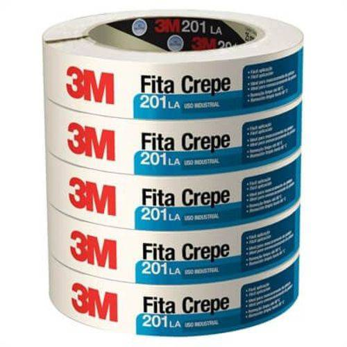 Fita Crepe 201 La Uso Profissional Alta Resistência 18mm X 50m (Emb. Contém 6un.) - 3M