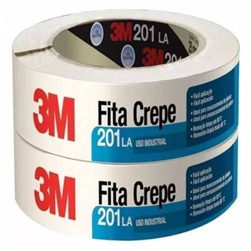 Fita Crepe 201 La Uso Profissional Alta Resistência 48mm X 50m (emb. Contém 2un.) - 3m
