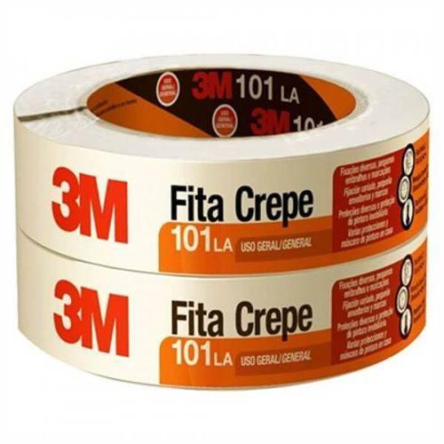 Fita Crepe 101 La Uso Geral Alta Resistência 48mm X 50m (Emb. Contém 2un.) - 3M