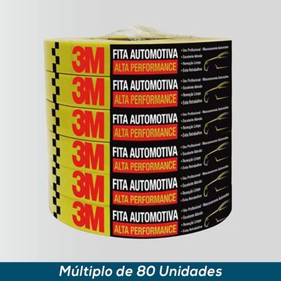 Fita Crepe Automotiva 3M Alta Performance 16mmx50mts