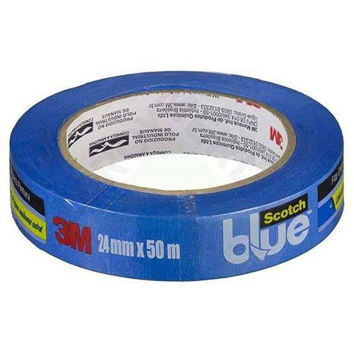 Fita Crepe Blue Tape 24mm X 50m 3m Scotch 26036