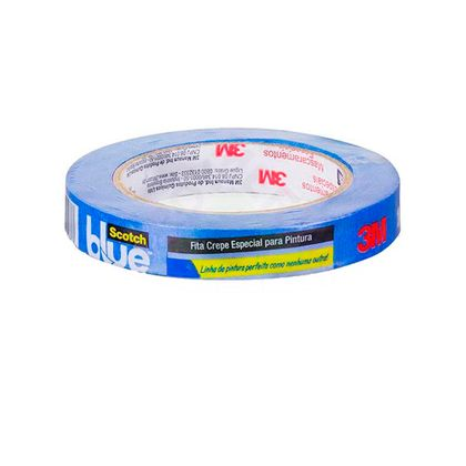 Fita Crepe Scotch Blue 50 Metros 3M 18 Mm