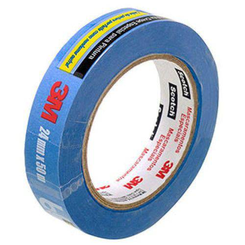 Fita Crepe Scotch Blue Tape 18mm X 50m - 3m
