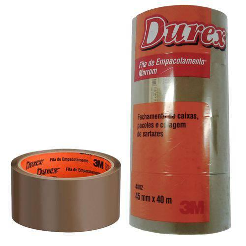 Fita de Empacotamento Durex 3M 45x40 Marrom 120 Unidades