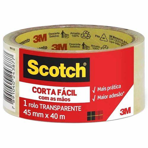 Fita de Empacotamento Scotch 3M 45x40 Corta Fácil 1027705