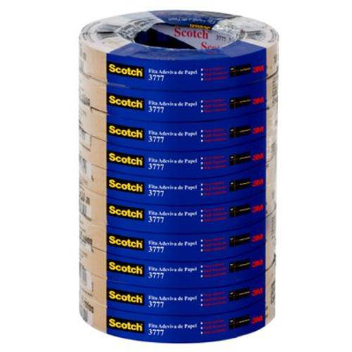 Fita de Empacotamento Scotch Papel Kraft 18x50m 3777 | 10 Rolos - 3m