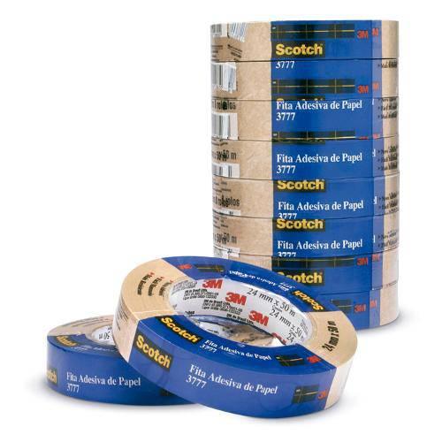 Fita de Empacotamento Scotch Papel Kraft 24x50m 3777 | 8 Rolos - 3m
