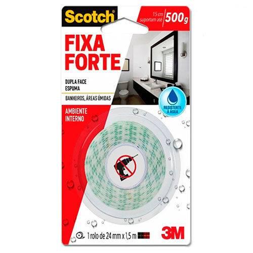 Fita de Espuma Dupla Face Scotch 3M Fixa Forte