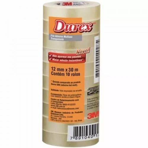 Fita Durex 12mm X 30m (Emb. Contém 10un.) - 3M