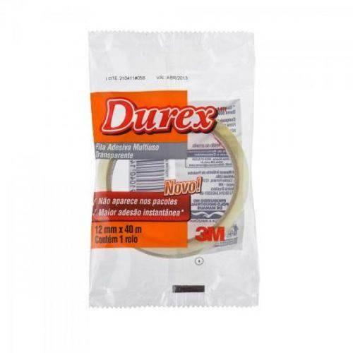 Fita Durex 12mm X 40m 500 Transparente 3m