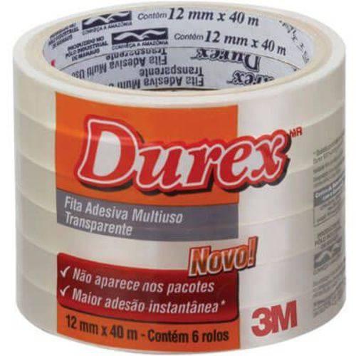 Fita Durex 12mm X 40m (Emb. Contém 6un.) - 3M