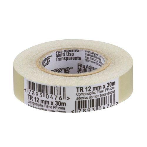 Fita Durex Transparente 12x30 - 3M 999458