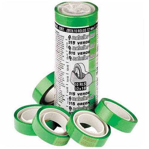Fita Durex Verde 12x10 Adelbrás 130839