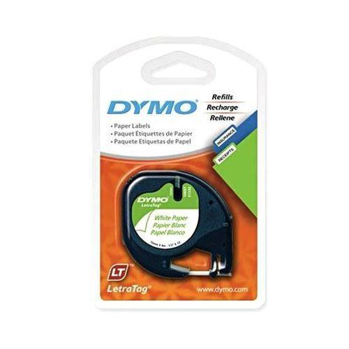 Fita Dymo IMEX P/ Rotulador - 12mm X 4mts - Branca