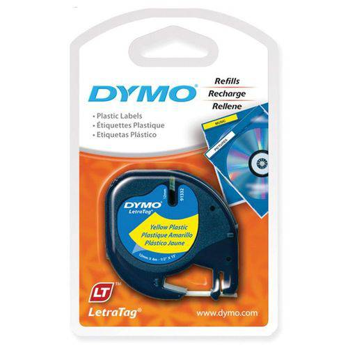Fita Dymo IMEX P/ Rotulador Eletrônico - 12mm X 4mts - Amarelo