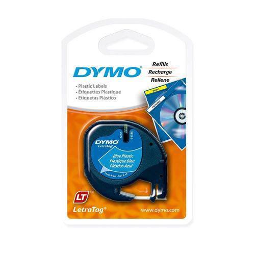 Fita Dymo IMEX P/ Rotulador Eletrônico - 12mm X 4mts - Azul