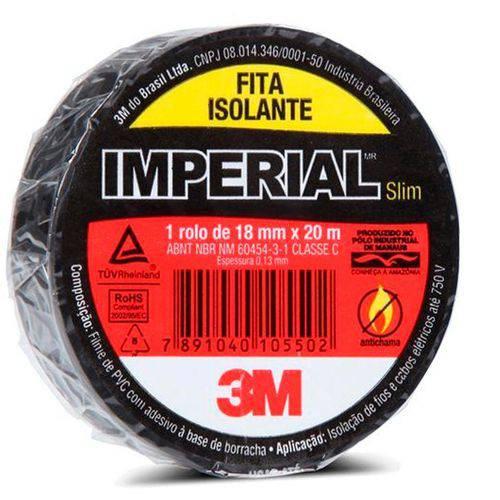 Fita Isolante 18mm X 20m Preta-imperial Slim