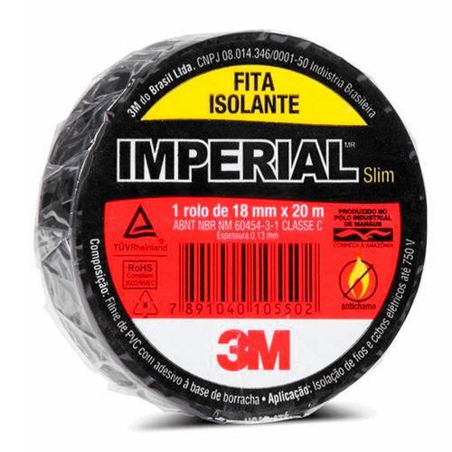 Fita Isolante 18mmx20m Uso Geral Imperial Slim 3m
