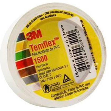 Fita Isolante Branca Temflex 1500 3M 18mmx10m - 199990 199990