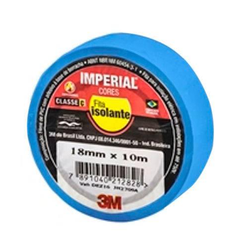 Fita Isolante Imperial Azul 18mm X 10m-3m-hb004297980