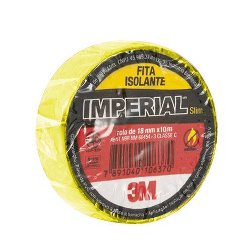 Fita Isolante Imperial Cores Amarela 18mmx10m Pcote 10 Un