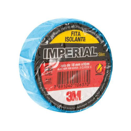 Fita Isolante Imperial Cores Azul 18mmx10m Pacote 10 Un