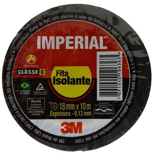 Fita Isolante Imperial 3m Slim 18mm X 10 Metros