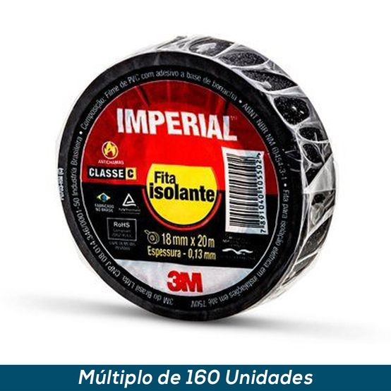 Fita Isolante Imperial Slim 3M 18mmx20mts