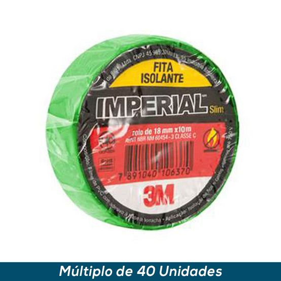 Fita Isolante 3M Imperial Verde 18mmx20mts