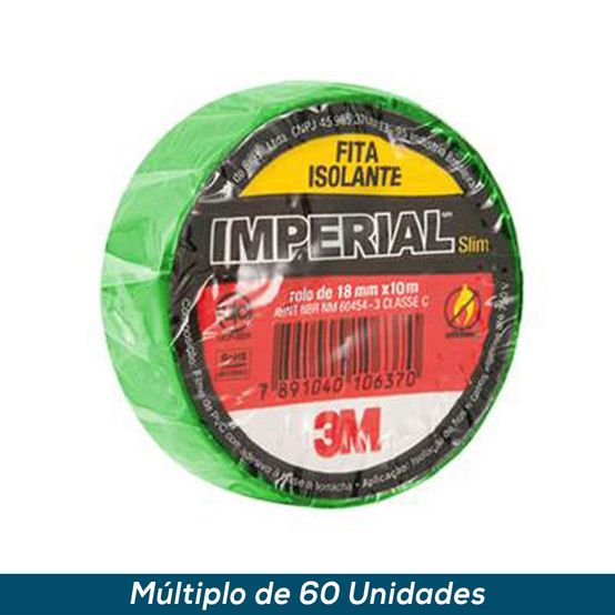 Fita Isolante 3M Imperial Verde 18mmx10mts
