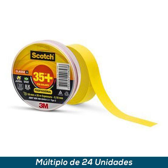 Fita Isolante 3M Scotch 35+ Amarelo 19mmx20mts