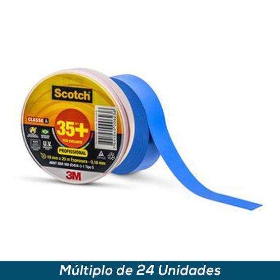 Fita Isolante 3M Scotch 35+ Azul 19mmx20mts