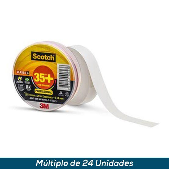 Fita Isolante 3M Scotch 35+ Branco 19mmx20mts