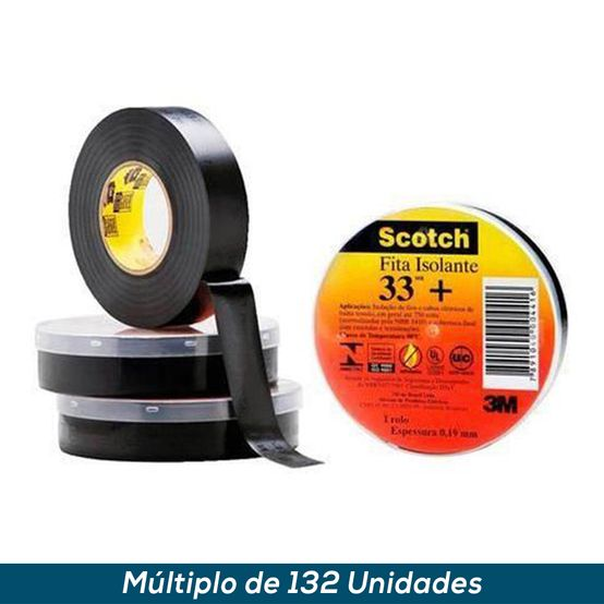 Fita Isolante Profissional Scotch 33+ 19mmx10mts