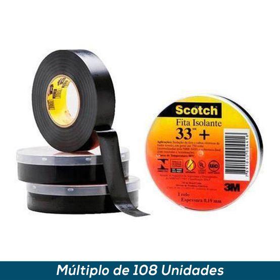 Fita Isolante Profissional Scotch 33+ 19mmx5mts