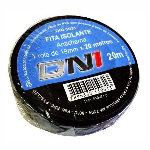 Fita Isolante PVC Preta - 20m - DNI 5031