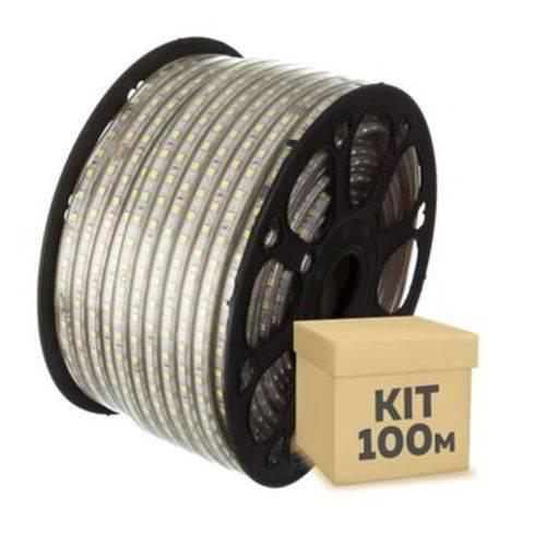 Fita Led 100m Ultra Rgb 5050 Prova Dágua + Controle
