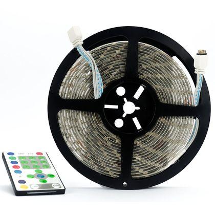 Fita LED Auto Adesivas SMD-5050 RGB 60/M - 5 Metros