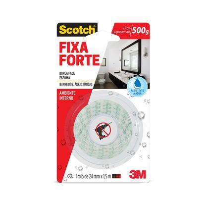Fita 3M Scotch® Fixa Forte para Banheiros - 24 Mm X 1,5 M